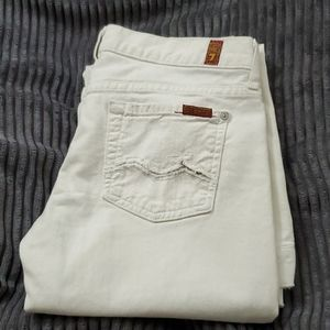 7 for All Mankind Jeans White